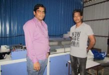 Sanjiv Singh and Dayashankar with the Welbound WB2000