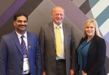 Left - Dayaker Reddy, newly elected vice-president of Global Print, Right - Deirdre Ryder, elected chair of Global Print