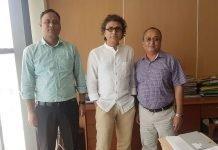 L-R: Mohammad Shazedul Islam, CFO, Barotopa Printers, Rajiv Gandotra of Technicon India and Abdullah Al Baki, chairman, Barotopa Printers