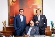 Subhash Chandra (centre), chairman of Zee Entertainment Enterprises Ltd (ZEEL); Punit Goenka (right), MD and CEO of ZEEL; and Amit Goenka, CEO of ZEE5