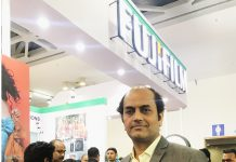 SM Ramprasad, of Fujifilm India is confident that the new Fujifilm Acuity is a 'near perfect' printer for the Indian market Photo IPP