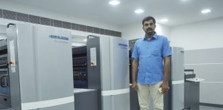 Vadivel of MS Labels with the Heidelberg Speedmaster SX 74