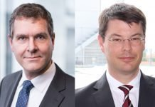 Alexander Wassermann and the new managing director of manroland Goss, Franz Kriechbaum