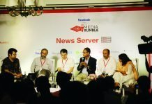 L-R: Moderator – Amit Varma, Dr. Alok Sarin, Santosh Desai, Govindraj Ethiraj, Pratik Sinha and Manisha Pande at Media Rumble, Delhi. Photo IPP