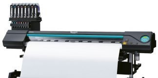 Roland DG Texart RT-640M dye sublimation textile printer.