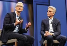 Tim Cook, chief executive officer, Apple and McDermott of SAP