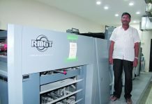 G Venkateswara Reddy, owner of Sri Jayaram Offset with the newly installed RMGT 790ST-XL 4-color press
