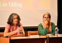 Ritu Menon, publisher, Women Unlimited and Indira Chandrasekhar, publisher, Tulika Books