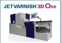 The new press utilizes key components of the JETvarnish 3D Press Series