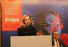 drupa director Sabine Geldermann at a drupa promotion event in New Delhi in autumn 2019 Photo IPP at Messe Dusseldorf