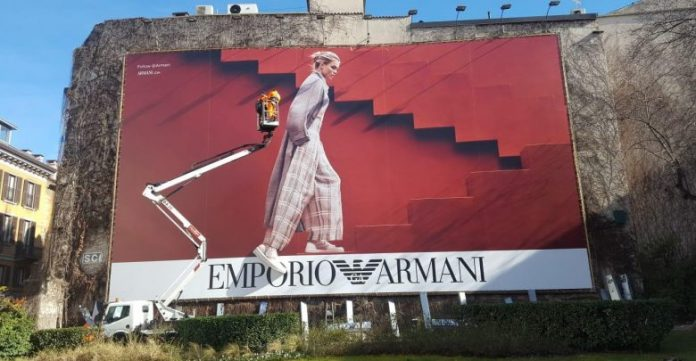 Emporio Armani 3D billboards