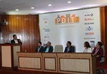 Barun Banerjee of Nestle, Mudit Lawania, Vinay Nalawade of Parakh Flexipack, Leeladhar Poojary of Colgate, Himanshi Mahajan of Mother Dairy and Kriti Soni of Dabur during the brand owners' panel discussion. Photo IPP