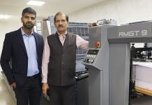 Himanshu Chandna and Naresh Chandna of Sai Printo Pack with the new RMGT 920ST sheetfed offset press