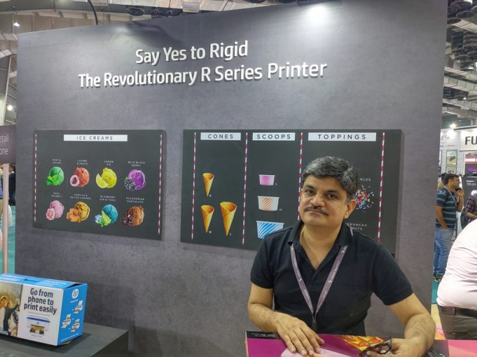 Vitesh Sharma of HP India at Media Expo Mumbai 2020. Photo IPP
