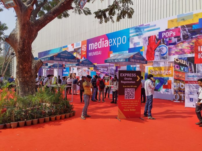 Bombay Exhibition Centre during the Media Expo Mumbai 2020. Photo IPP