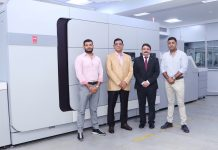 L to R Sanandan Seth, director Replika Bhuvnesh Seth, managing director, Replika Press, Puneet Datta, senior director, Canon India and Vikaran Seth, director, Replika Press Photo Canon India