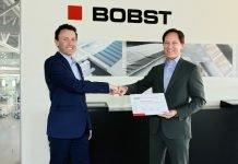 Matthieu Richard receiving the prestigious Bobst Inventor Award