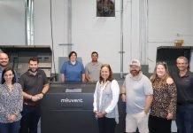 Enterprise Print Group team photo with Mouvent LB702-UV