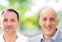Pasha Solel, Senior Business Development Managerof Michelman(Left) and Gianluigi Rankin, Michelman's Global Marketing Manager for Digital Printing (Right)